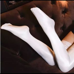 Silk, Satin & Lace Thigh High Tights